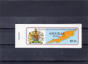 Anguilla 1978 Sc#318a Coronation 25th.Anniv.Booklet Back cover A