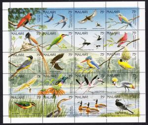 Malawi Birds Sheetlet of 20v SG#876-895