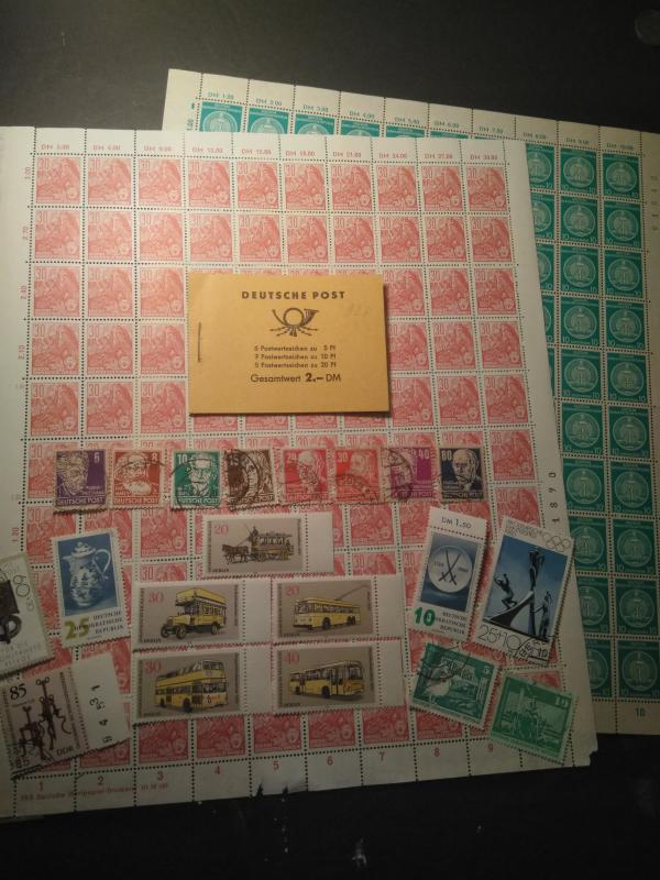Soviet1951-1980 Union Occ East German DDR stamp sheet booklet & set lot MNH used