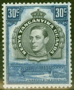 KUT 1938 30c Black & Dull Violet-Blue SG141 Fine Mtd Mint