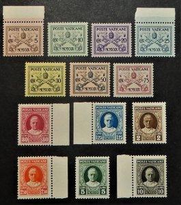 Vatican City 1-13. 1929 5c-10L Definitives
