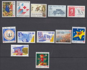 J29311, various 1980,s-90,s sets of 1 mnh lot all dif