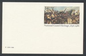 SC#UX114 14¢ National Guard Heritage Postal Card Mint