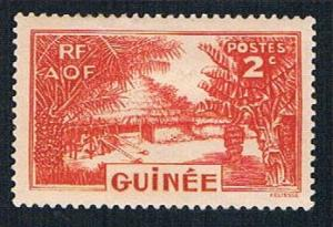 French Guinea 128 MLH Canoe on river (BP0912)