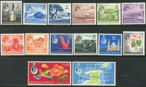 TRINIDAD & TOBAGO Sc#89-102 1960 QEII 2nd Definitives Complete Set OG Mint LH