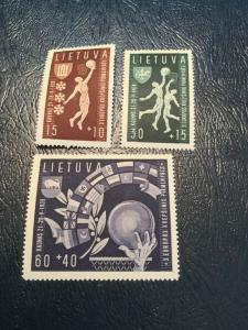 Lithuania Scott #B52-54 Mint Never Hinged 1939 Stamps