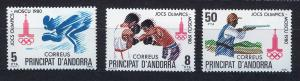 ANDORRA SPANISH 1980 MNH SC.121/123 Olympic Games Moscow