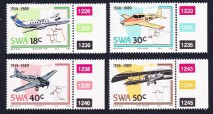 SWA Airplanes 4v SG#507-510 SC#614-617