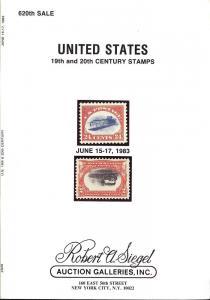 Siegel: Sale # 620  -  United States 19th & 20th Century ...