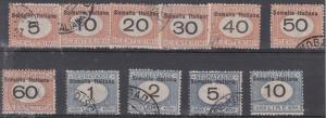 Somalia Scott J31-J41 Used (Catalog Value $420.00)