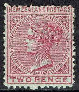 NEW ZEALAND 1874 QV 2D WMK STAR NZ