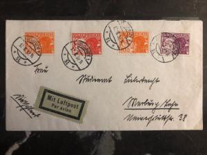 1932 Vienna Austria Airmail Cover To Nuremburg Germany