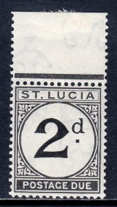 St. Lucia - Scott #J4 - MNH - Hinged in selvage - SCV $40