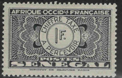 Senegal Scott J29 MH* 1935 postage due