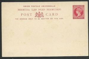 BERMUDA  QV 1d postcard fine unused........................................58502
