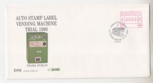 IRELAND, 1990 Automated Vending Machine Trial set 3 unaddressed First Day Covers