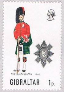 Gibraltar Black watch 1p - pickastamp (AP103602)