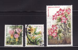 Kenya 247, 252, 255 U Flowers