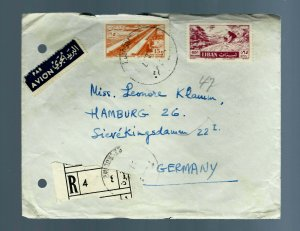 "LEBANON 1967, RARE REGISTRATION LABEL "" 4 "" COVER TO GERMANY"