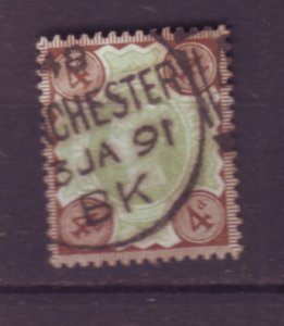 J22117 Jlstamps 1887-92 great britain used #116 queen