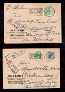 Germany #9N1 - #9N20 Used On Nine Cover & 1 Card With Matching 27-10-1948 Cancel