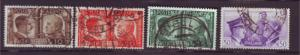 J20326 jlstamps 1941 italy part of set used #413-6 hitler mussolini