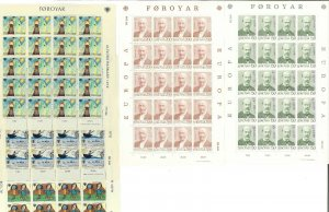 EUROPA Sets/Sheets, European countries, Late 1970's MNH