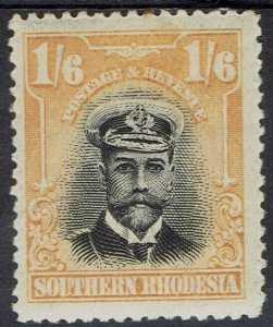 SOUTHERN RHODESIA 1924 KGV ADMIRAL 1/6