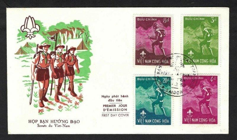 1959 Boy Scouts Vietnam National Jamboree FDC