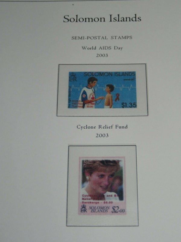 Palo Solomon Islands Premium Albums Hingeless Color Pages 1907-2012 Retail $800