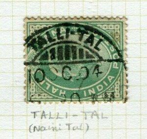 INDIA; POSTMARK fine used cancel on Ed VII issue, Talli Tal