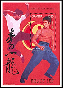 Gambia 1738, MNH, Bruce Lee souvenir sheet