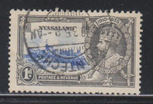 Nyasaland Protectorate, 1d Silver Jubilee (SC# 47) Used