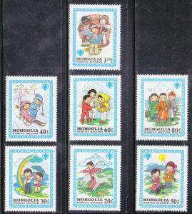 Mongolia MNH 1147-53 Nursery Tales