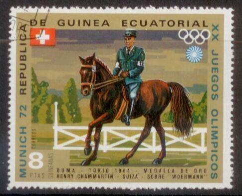 Equatorial Guinea 1972 Munich Olympics Horse Riding Used