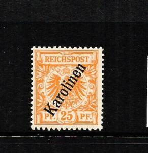 CAROLINE ISLANDS  1899-00  25pf  ORANGE     MH   SG 5
