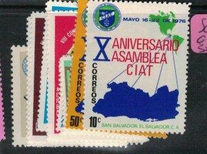 El Salvador SC 864-8, C366-8, 382 MNH (9ecq)