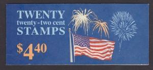 BK156 Flag and Fireworks Booklet -  2276a plate #P1111