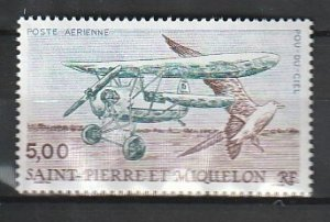 1990 St. Pierre and Miquelon - Sc C66 - MNH VF - 1 single - Flying Flea & Bird