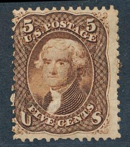 UNITED STATES 95 USED, GENUINE, CLEANED CANCEL, CERTIF.