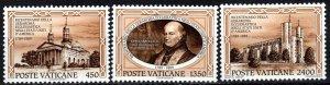 Vatican City #842-4  MNH CV $5.60 (X6837)