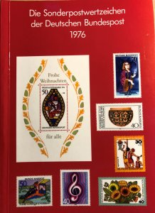 Dt. Bundespost 1976 BRD and Berlin MNH Commemoratives Complete Year in booklet