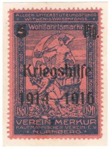(I.B-CK) Germany (Great War) Cinderella : War Fund 5pf (Kriegshilfe)