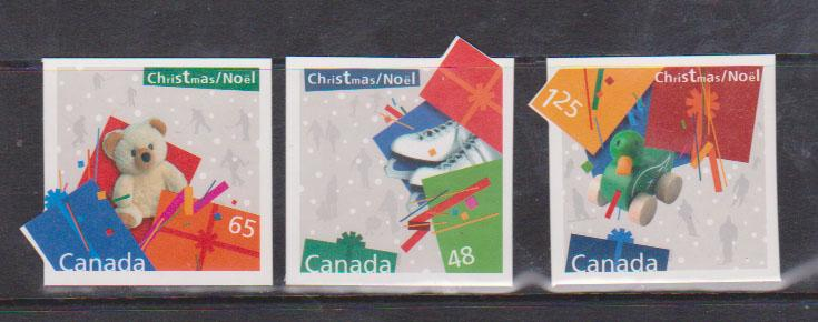 Canada USC #2004i-2006i Mint Self-Adhesives 2003 Xmas Gifts Die Cut to Shape VF
