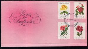 Australia 826-829 Roses U/A FDC