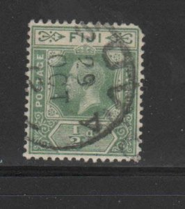 FIJI #80  1912  1/2p  KING GEORGE V       F-VF  USED