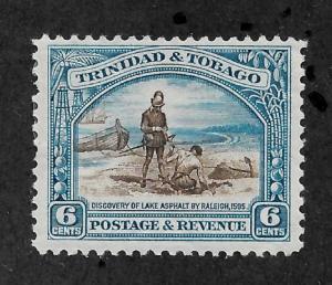 Trinidad & Tobago 1935, 6c Scott # 37,VF Mint Hinged*OG,Nice color ,(SP-3)