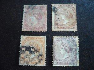 Stamps - Cuba - Scott# 38-41 - Used