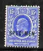 Kenya, Uganda & Tanganyika 1907-08 KE7 15c MCA overprinte...