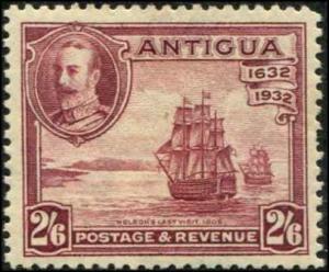 Antigua SC# 75 SG# 89 Nelson's ship Victory 2sh6d toned gum MH